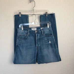FRAME Denim Eastwood Le Original Frayed Hem Jeans